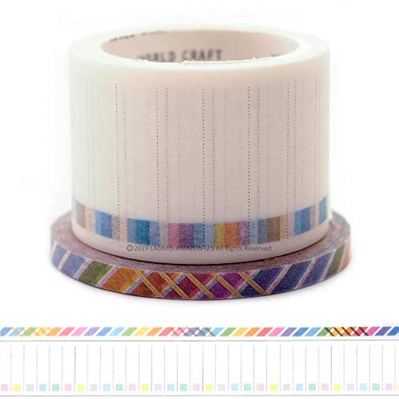 World Craft Japanese Washi Masking Paper Tape Set of 2 (Check List + Slash)