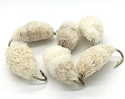 Fly Fishing XTRALarge BREAD FLY Pack of Six size 4 for Fly Trout Carp Mullet PACK#44 by BestCity Limited