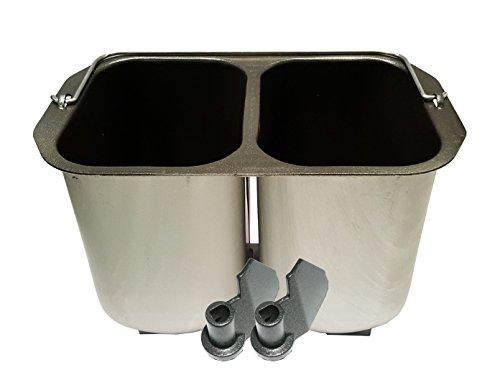 Molde doble para 2 panes pequeños + ganchos para amasar panificadoras B3990/B3955.