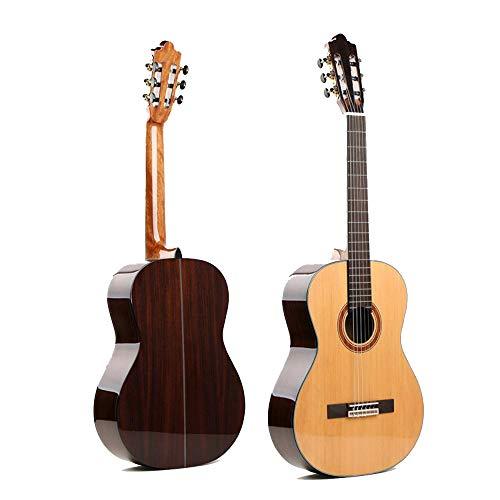 North King - Guitarra acústica clásica de 127 cm, Hecha a Mano, diseño de pícea, Color Rosa