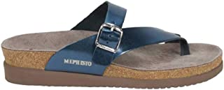 Women's Helen Sandals Blue Star Metallic Leather 8 M US