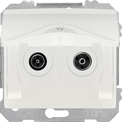 BJC EF-185935 Iris Estanca IP44 TOMA TV-SAT Derivación Unica, Blanca