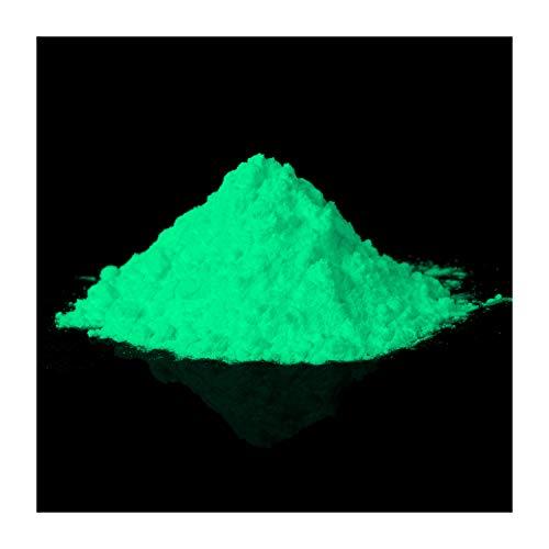 lumentics Premium Leuchtpulver Grün 40g - Im Dunkeln leuchtendes Farbpulver. Nachleuchtend, phosphoreszierend, fluoreszierend und nachleuchtend. UV Pigmente für Leuchtfarbe, Harz, Lack, Epoxy