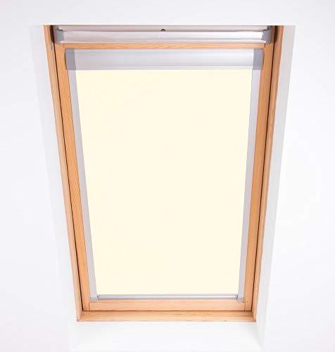 Bloc Skylight Blind 104-Estor para Ventanas de Techo Tipo velux, Opaco, tela, Color Crema, 105x40 cm