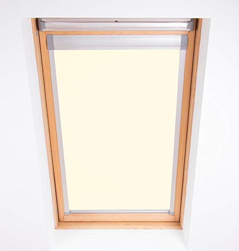 Bloc Skylight Blind 6 (78/118) Estor para Ventanas de Techo Fakro, Opaco, Color Crema