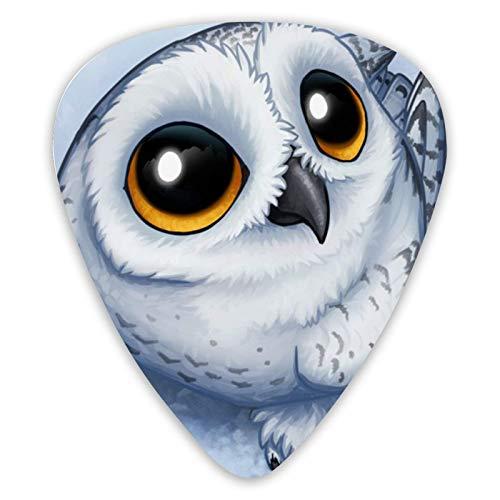 Púas de guitarra adorables Baby Owl, paquete de 12 púas de guitarra premium para guitarra eléctrica y bajo, guitarra acústica