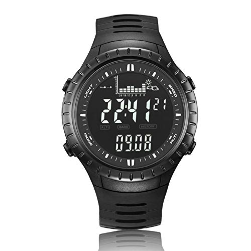 SULUO Reloj de Pesca Barómetro 5ATM Termómetro Impermeable Altímetro Hombres Deportes militares Relojes de pulsera digitales