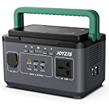 BR300 Portable Power Station - Joyzis 296Wh Solar Generator (Solar Panel Not Included) with LED light,Pure Sine Wave AC Outlet, Backup Lithium Battery Power Station for Outdoor Camping, Emergency
