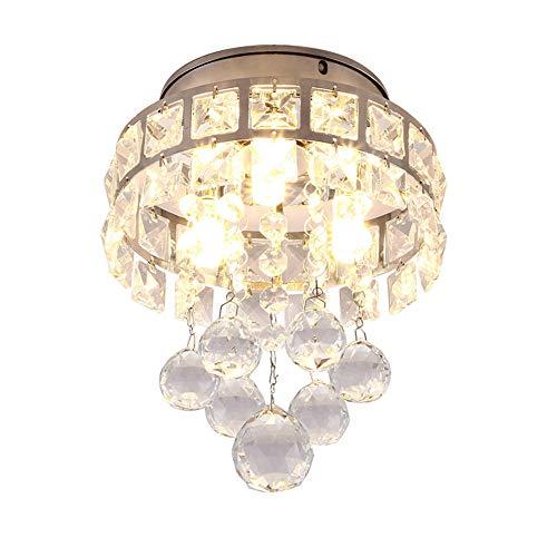 Moderne Kristall Kronleuchter, Mini Pendelleuchten, feine Kristall-Deckenleuchte für die Küche, Schlafzimmer, Küche und Restauran,Kinderzimmer,D16cm