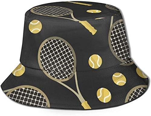 Trushop Unisex Tennisschläger und Tennisbälle Baumwolle Packbar Sommerreise Bucket Beach Sun Hat