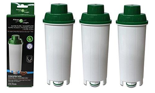 3 x FilterLogic CFL950B Compatibel waterfilter voor Delonghi SER3017 Espresso koffiezetapparaat DLSC002 geschikt voor Esam 6900, ECAM350.75.S Magnifica, ECAM 350.15.B Dinamica, ECAM44.620.S - ECAM,ETAM-serie
