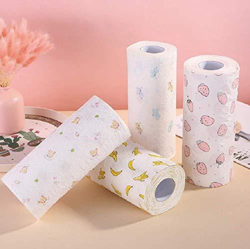 ¡Sanlida! Rollos de cocina, extra absorbentes, paquete de 4 (4 x 80 hojas de 2 capas)
