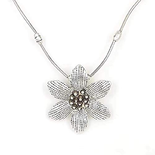 Luo Element chinesischen Stil Vintage Halskette Ornament Blatt Blume Anhänger Pullover Schmuck Kleidung für Frauen
