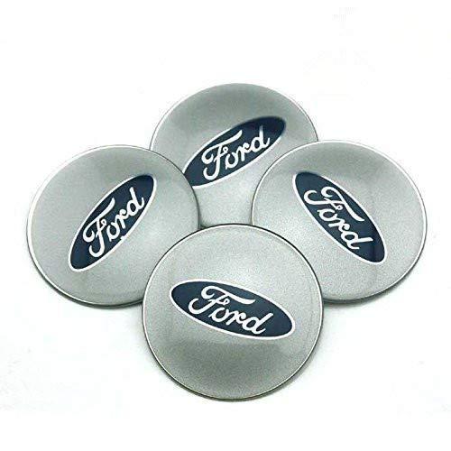JXHDKJ 4pcs 65mm Car Accessories Emblem Badge Sticker Wheel Hub Caps Centre Cover for Ford Focus 2 Focus 3 Fiesta F-150 Kuga Fusion Escape Edge