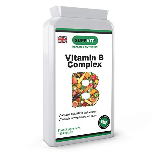 Vitamin B Complex | B1, B2, B3, B5, B6, B7 (Biotin), B9 (Folic Acid) & B12 | Minimum 100% NRV | 120 Capsules | 1 Capsule Daily | Vegetarian & Vegan Friendly | UK Made & GMP Certified