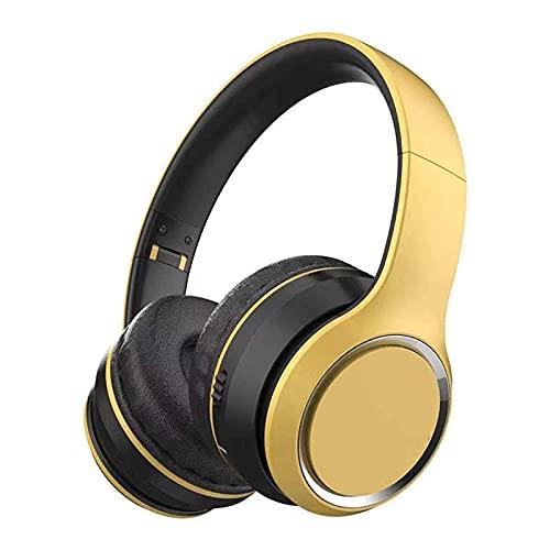 ZIXUAL Auriculares inalámbricos Detalle de música Plegable Auricular Reducción de Ruido ANE Bluetooth 5.0 Tableta móvil Tableta Forme Auriculares
