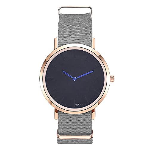 Richoyster Reloj de Cuarzo con Correa de Nailon de Lujo Relojes de Moda para Hombres y Mujeres Reloj de Cuarzo K083-ME