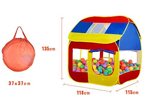LZNK Tienda de campaña para niños en Interiores y Exteriores, casa de Juegos para niños y niñas, Rompecabezas de Princesa, Mosquitos, Transpirable Tienda de Juguete