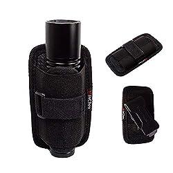 commercial MinChen Flashlight Holster Pouch Belt Holster Belt Carrying Case Holder 360 ° Rotating Clip flashlight clip holder
