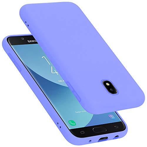 Cadorabo Funda para Samsung Galaxy J7 2017 / J730 / J7 Pro en Liquid Lila Claro - Cubierta Proteccíon de Silicona TPU Delgada e Flexible con Antichoque - Gel Case Cover Carcasa Ligera