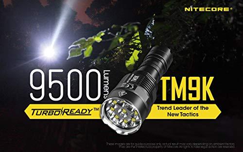 Nitecore TM9K - Linterna para Adulto, Unisex, Color Negro, Talla única