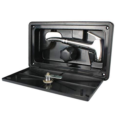 Delaspe - Kit de caja de ducha para caravana, autocaravana, autocaravana, con interruptor de calor frío para remolques de viaje, camping, autocaravanas, casas móviles