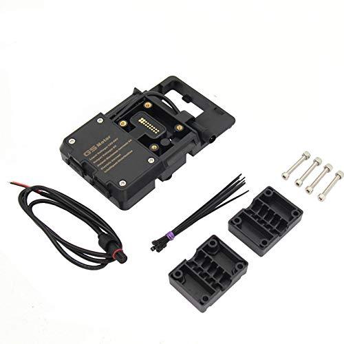Teléfono móvil Soporte de navegación USB Teléfono Carga por R1200GS 2013-2017 F750GS F850GS CRF 1000L F700GS F800GS Moto Soporte (Color : Black)