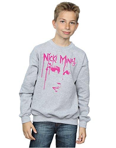 Nicki Minaj Jungen Face Drip Sweatshirt 7-8 Years Sport Grey