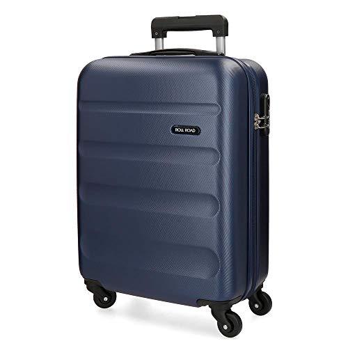 Roll Road Flex Maleta de cabina Azul 38x54x20 cms Rígida ABS Cierre combinación 35L 2,5Kgs 4 Ruedas Equipaje de Mano