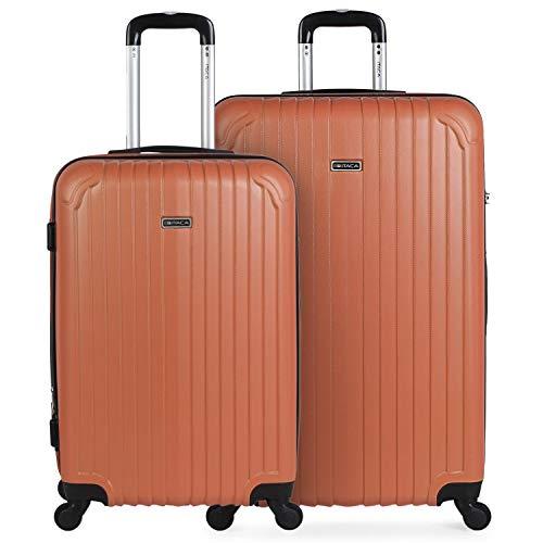 ITACA - Set van 3 koffers trolley 50/60/70 cm, ABS. Extensible. Stijf, bestendig en licht. Telescopische handgreep, 4 wielen, slot geïntegreerd. Lage kosten