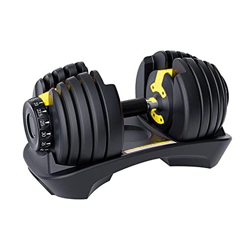 Juego de mancuernas ajustables de 2 kg a 25 kg, sistema de mancuernas Smart Fitness con disco de pesas, para gimnasio en casa, entrenamiento en casa