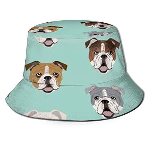 YongColer Fishing Hunting Summer Travel Bucket Cap Hat - Stupid Funny English Bulldog