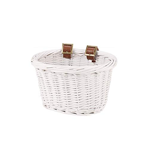 in budget affordable YEHTEH Bicycle Basket Rattan Bicycle Basket, bicycle handlebar in front of children's bicycle. size…