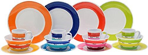 Flamefield CWK0116 Colour Set aus Melamin, Mehrfarbig, 16-teilig