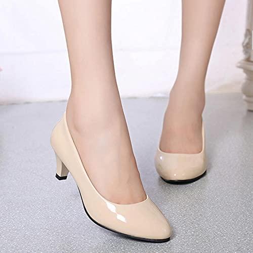 YHCS Bombas Femeninas Desnudas buca Poco Profunda Mujeres Zapatos de la Oficina de la Oficina de Moda Zapatos de Fiesta de Boda Damas Zapatos de tacón bajo Mujer otoño
