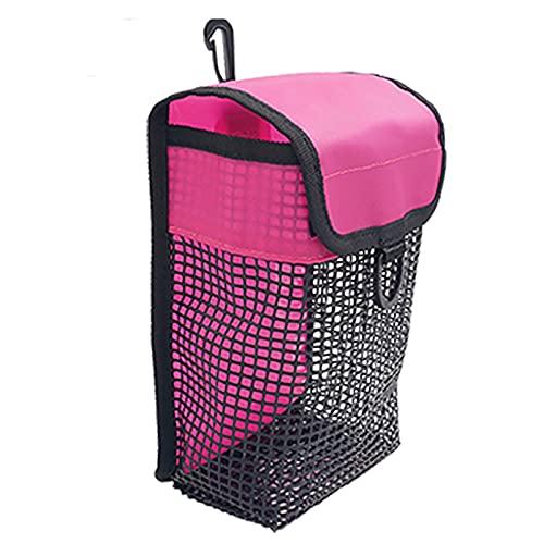 Rock88 Portátil Bolsillo de Cinturón de Pesas de Malla Práctica de Seguridad Scuba Weight Pocket para Bucear, Esnórquel 20 * 13 * 6 CM,Pink