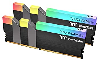 Thermaltake TOUGHRAM RGB DDR4 3200MHz 16GB  8GB x 2  16.8 Million Color RGB Alexa/Razer Chroma/5V Motherboard Syncable RGB Memory R009D408GX2-3200C16A