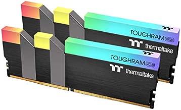 Thermaltake TOUGHRAM RGB DDR4 3600MHz 16GB (8GB x 2) 16.8 Million Color RGB Alexa/Razer Chroma/5V Motherboard Syncable RGB Memory R009D408GX2-3600C18B
