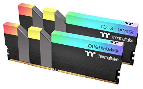 Thermaltake TOUGHRAM RGB DDR4 4000MHz 16GB (8GB x 2) 16.8 Million Color RGB Alexa/Razer Chroma/5V Motherboard Syncable RGB Memory R009D408GX2-4000C19A