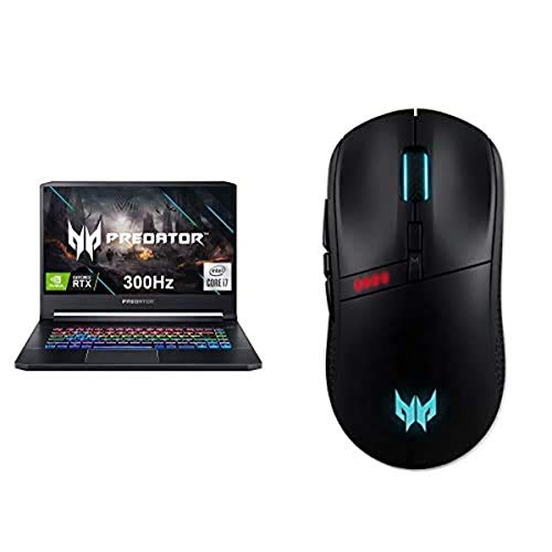 Acer Predator Triton 500 PT515-52-73L3 Gaming Laptop, Intel i7-10750H, NVIDIA GeForce RTX 2070 Super, 15.6' FHD 300Hz G-SYNC Display, 16GB DDR4, 512GB SSD with Cestus 350 Wired/Wireless Gaming Mouse