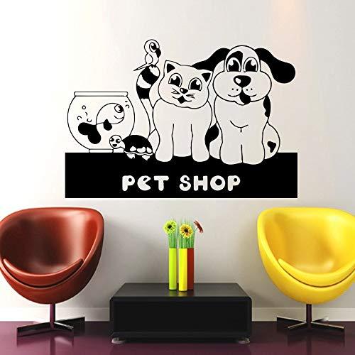 40x58 cm Salon Pet Shop Sticker Decal Muurstickers Posters Vinilo Tatuajes de Pared Arte Parede Decor Mural Pet Shop sticker