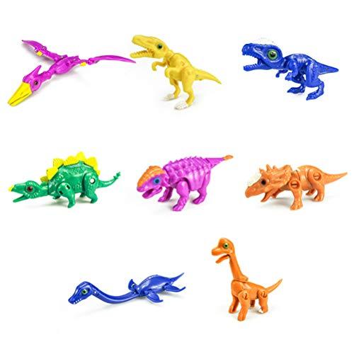 Naugust 8pcs Random Delivery Dinosaur Eggs Toy Dinosaurios deformados Colección de Huevos para Regalo de niños