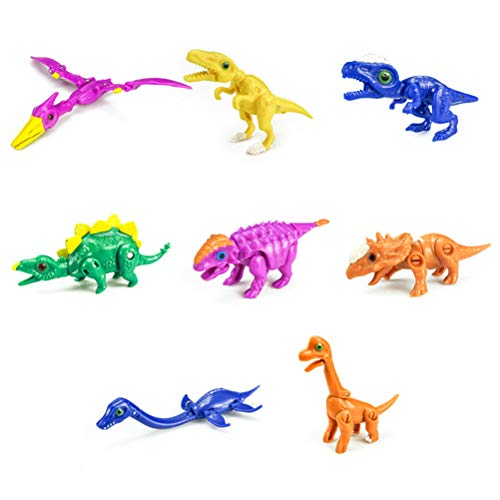 WINBST Dino Hatching Egg Figures of Dinosaurs Mini Dinosaur Set Scythian Plastic Dinosaurs Wildlife Speilset Toy