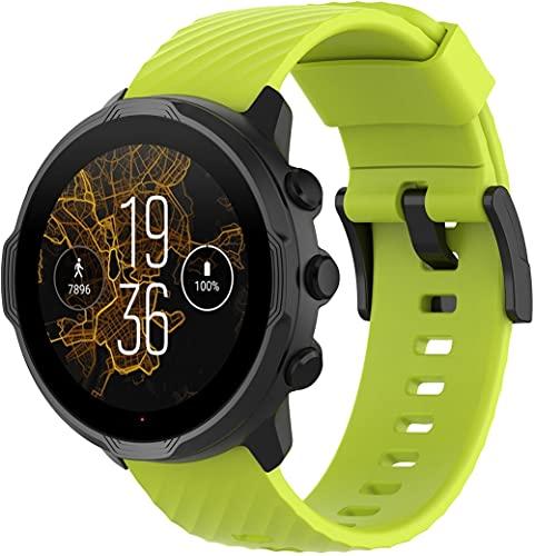 Classicase Repuesto de Correa de Reloj de Silicona Compatible con Suunto Spartan Sport Wrist HR / 9/9 Baro / 7, Caucho Fácil de Abrochar para Relojes y Smartwatch (Pattern 8)
