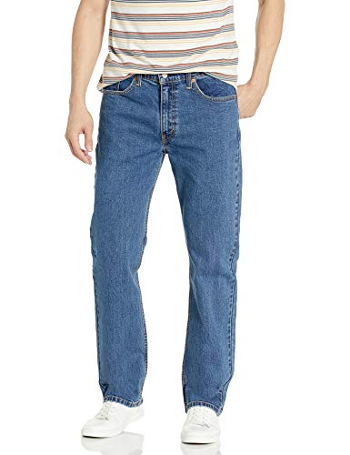 Levi's Men's 514 Straight Fit Stretch Jeans - 40W x 32L - Stonewash Stretch