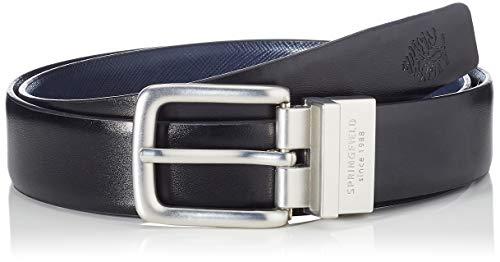 Springfield Cinturon Reversible Daily-c/01, Negro (Black 1), 95 (Tamaño del fabricante: 95) para Hombre
