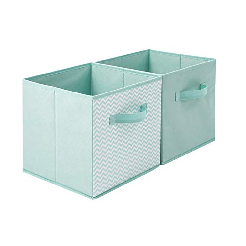 A Set of 2 Creativity Foldable Storage Bins Multifunction Square Non-Woven Fabric Storage Boxes Toys Baskets Kids Laundry Boxes with Handles Home Closet Bedroom Drawers Organizers,Style 4