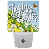 Huevos de Pascua Flores Luz nocturna Enchufe Conjunto de 1 Margarita de primavera Mariposa Girasoles Luces nocturnas Lámpara de sensor automático de anochecer a amanecer