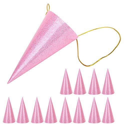 Couronne de fête pour enfants, chapeaux décoration de chapeau de fête drôle, chapeau d'anniversaire de fournitures de fête, pour toute occasion spéciale pour les vacances(Pink)
