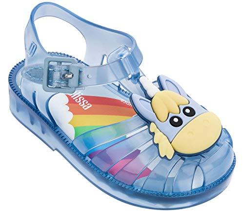 Melissa Mini Possession Unicorn Sandals, Blue, Size 5 Toddler